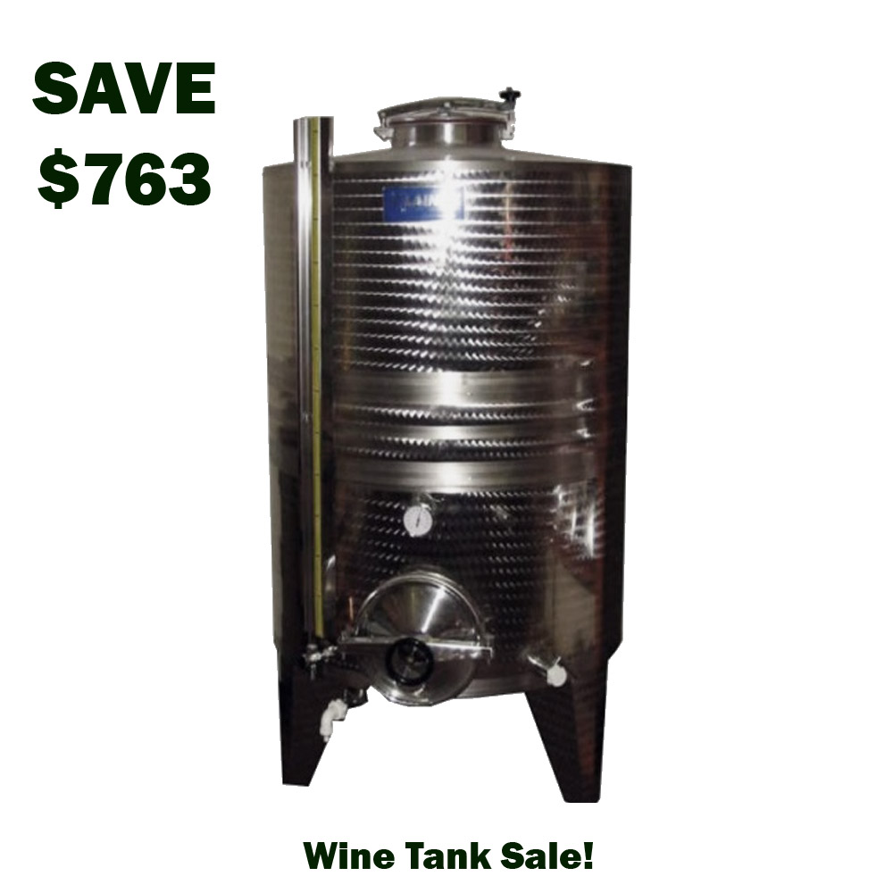 Home Wine Making Coupon Codes for Save $763 On a 1000L Jacketed Wine Tank Coupon Code