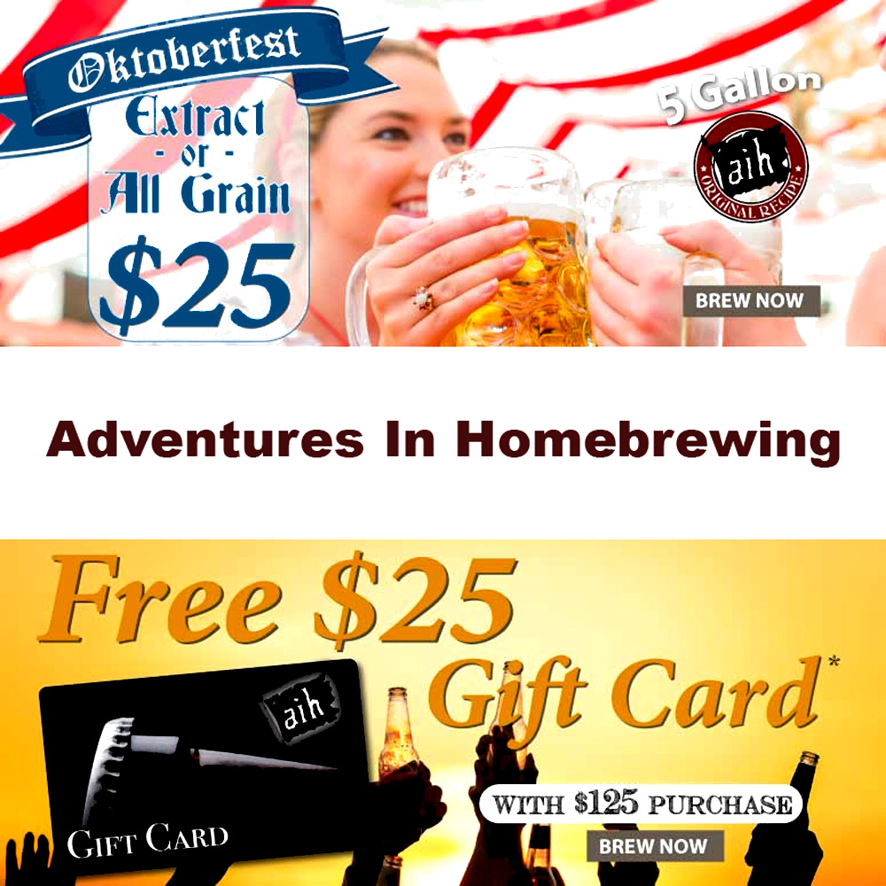Home Wine Making Sales for Spend $125 and Get $25 Back At Adventures In Homebrewing Sale
