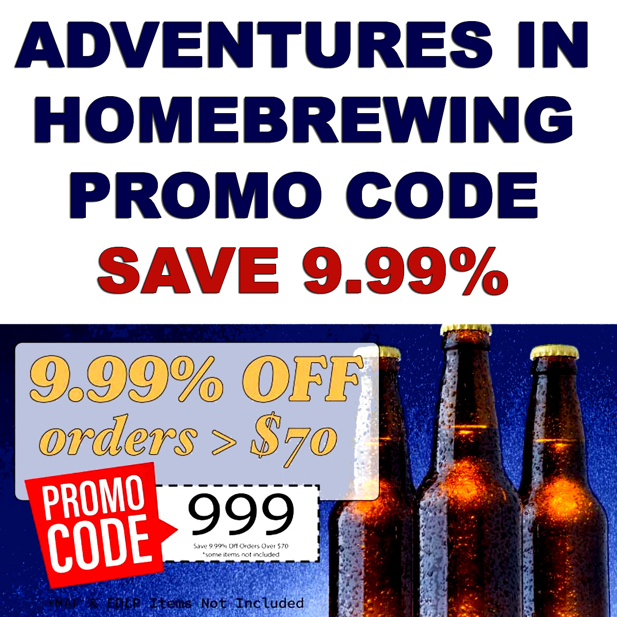 Home Wine Making Coupon Codes for Save 9.99% On Orders Over $70 at Adventures in Homebrewing With This Homebrewing.org Deal! Coupon Code