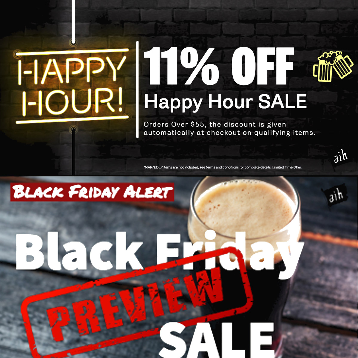 Home Wine Making Coupon Codes for Save 11% On Orders Over $55 at Adventures in Homebrewing Plus Black Friday Deals Coupon Code