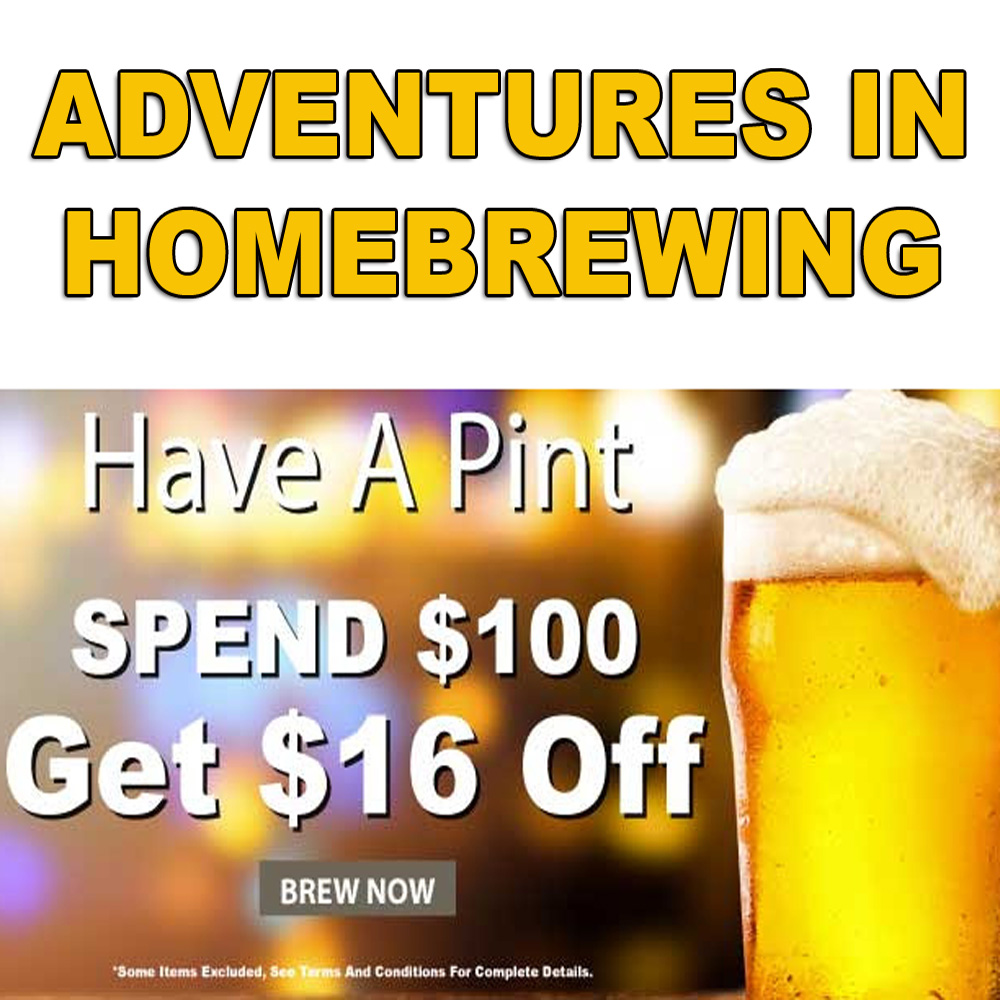 Home Wine Making Sales for Spend $100 and Get $16 Off Your Order Sale