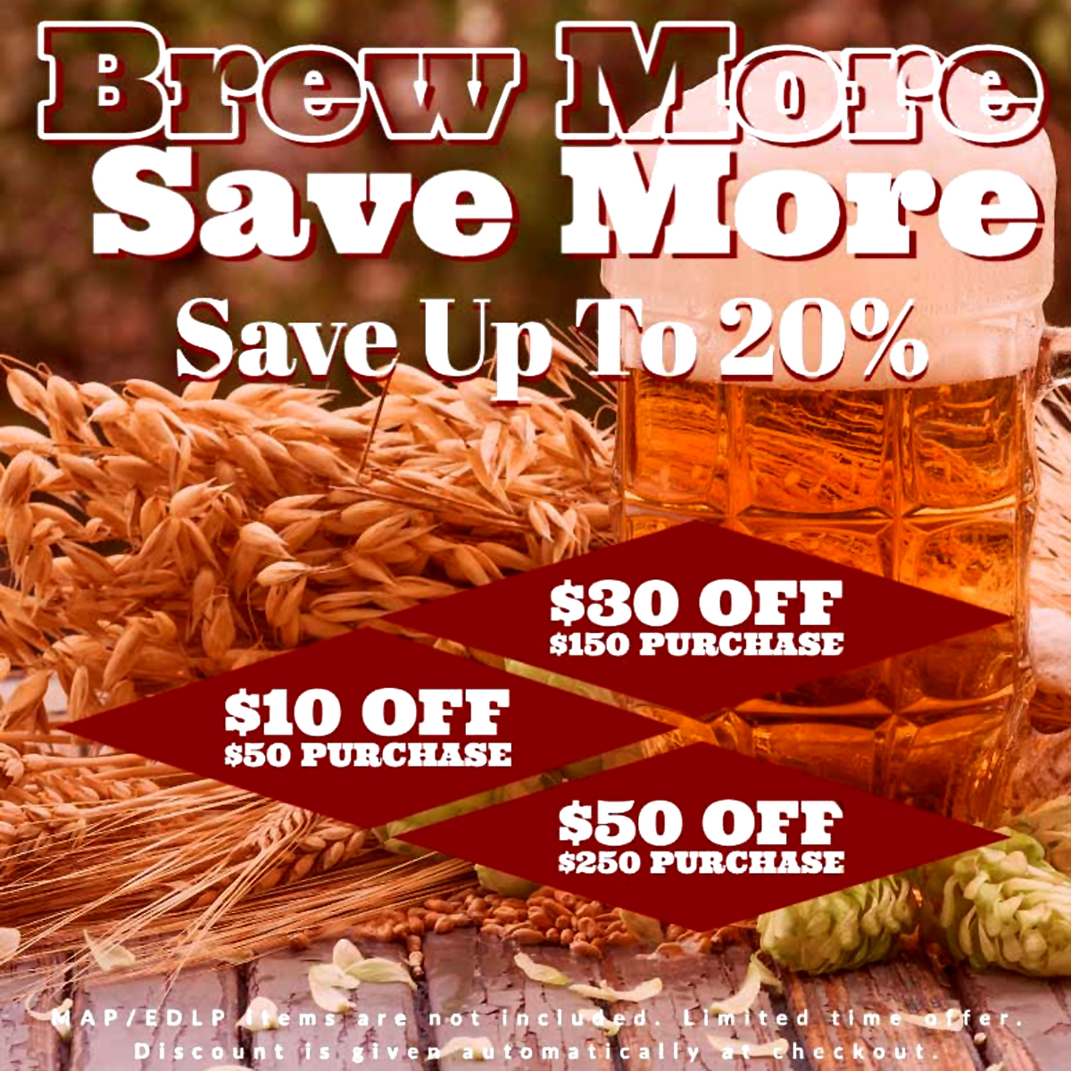 Home Wine Making Coupon Codes for Save $50 On Your Purchase and Get FREE SHIPPING at Aventures in Homebrewing With This Promotion Coupon Code
