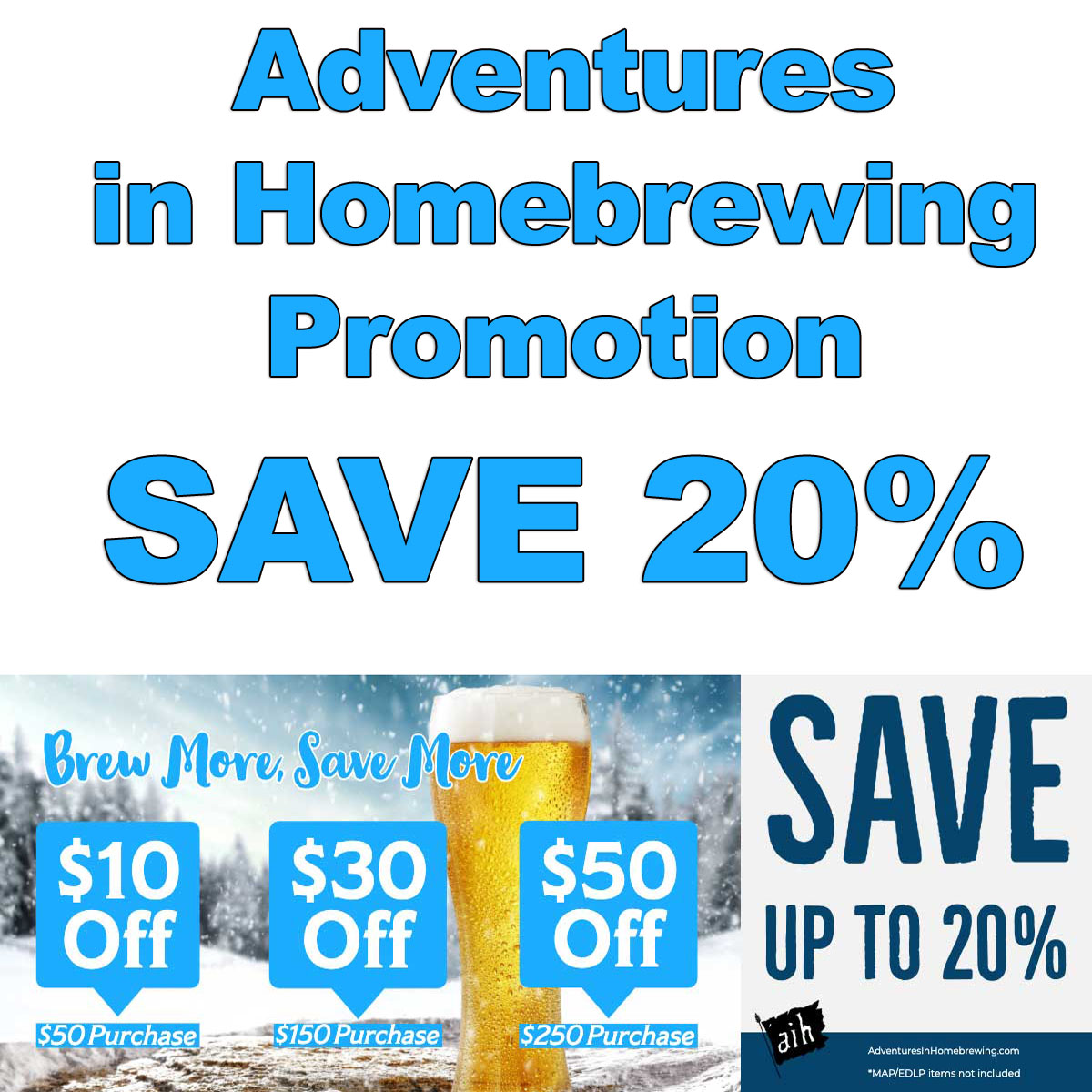 Home Wine Making Coupon Codes for Save Up To 20% at Adventures in Homebrewing Right Now with this Homebrewing.org Promotion! Coupon Code