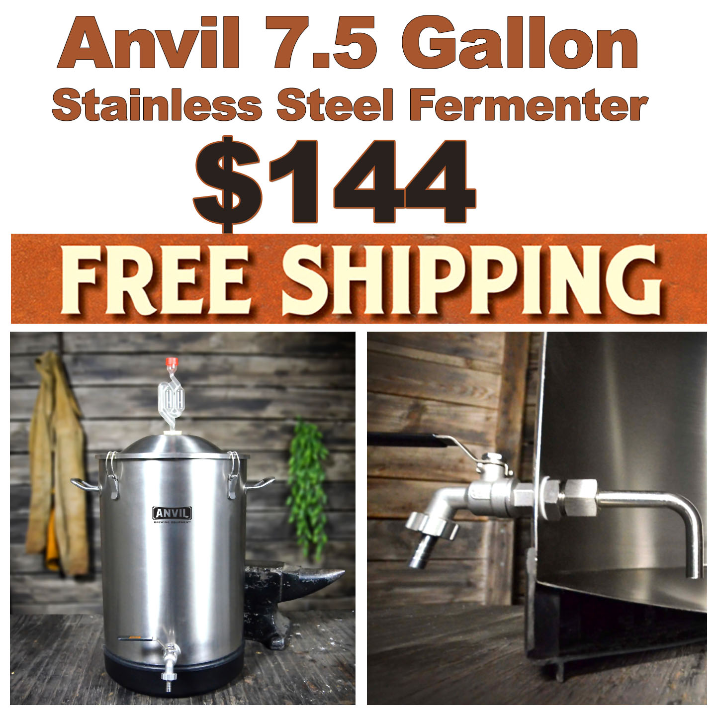 Home Wine Making Coupon Codes for Get an Anvil 7.5 Gallon Stainless Steel Fermenter for Just $144 Plus Free Shipping with this Anvil Promo Code Coupon Code