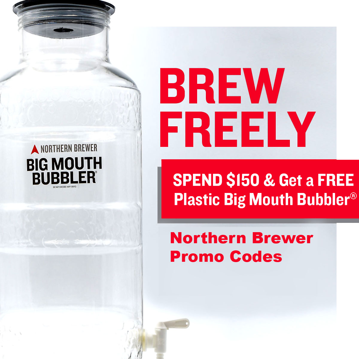Home Wine Making Coupon Codes for Spend $150 and Get a FREE Big Mouth Fermenter Coupon Code For Northern Brewer Coupon Code