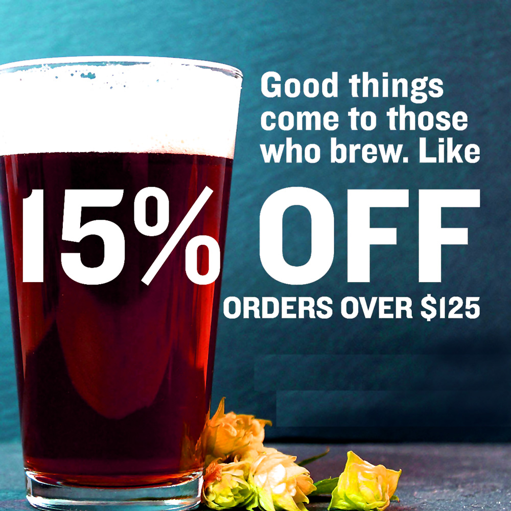 Home Wine Making Coupon Codes for Save 15% On Orders Over $125 at NorthernBrewer.com Coupon Code