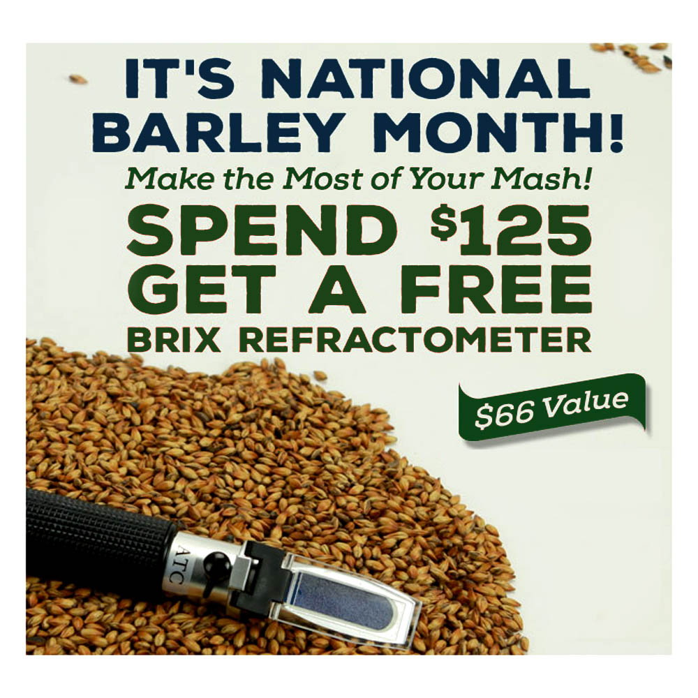 Home Wine Making Coupon Codes for Get A Free Refractometer When You Spend $125 at Northern Brewer Coupon Code