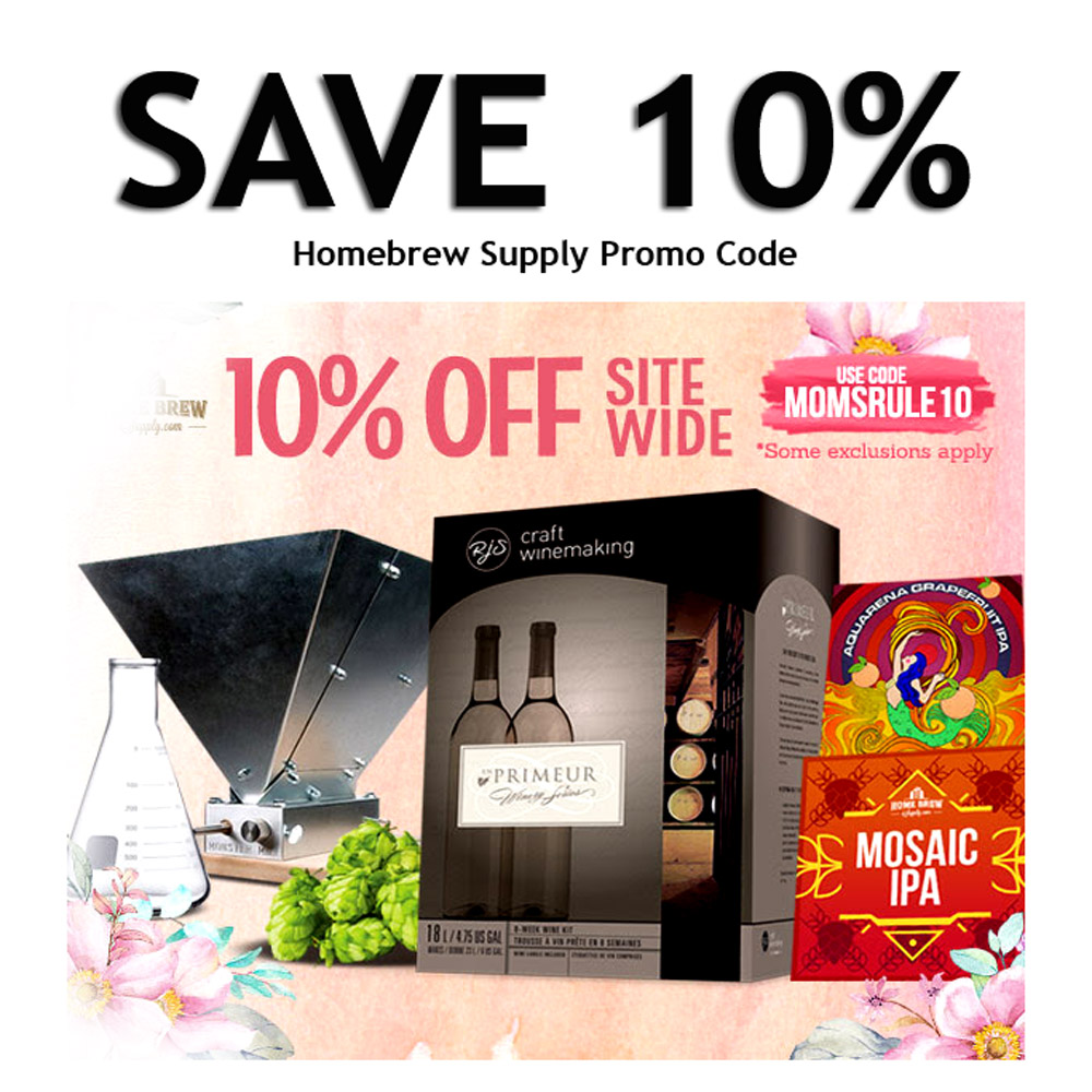 Home Wine Making Coupon Codes for Save 10% Sitewide at HomebrewSupply.com with Coupon Coupon Code