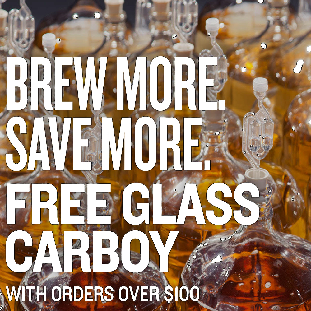 Home Wine Making Sales for Get a Free Glass Carboy On Orders Over $100 Sale