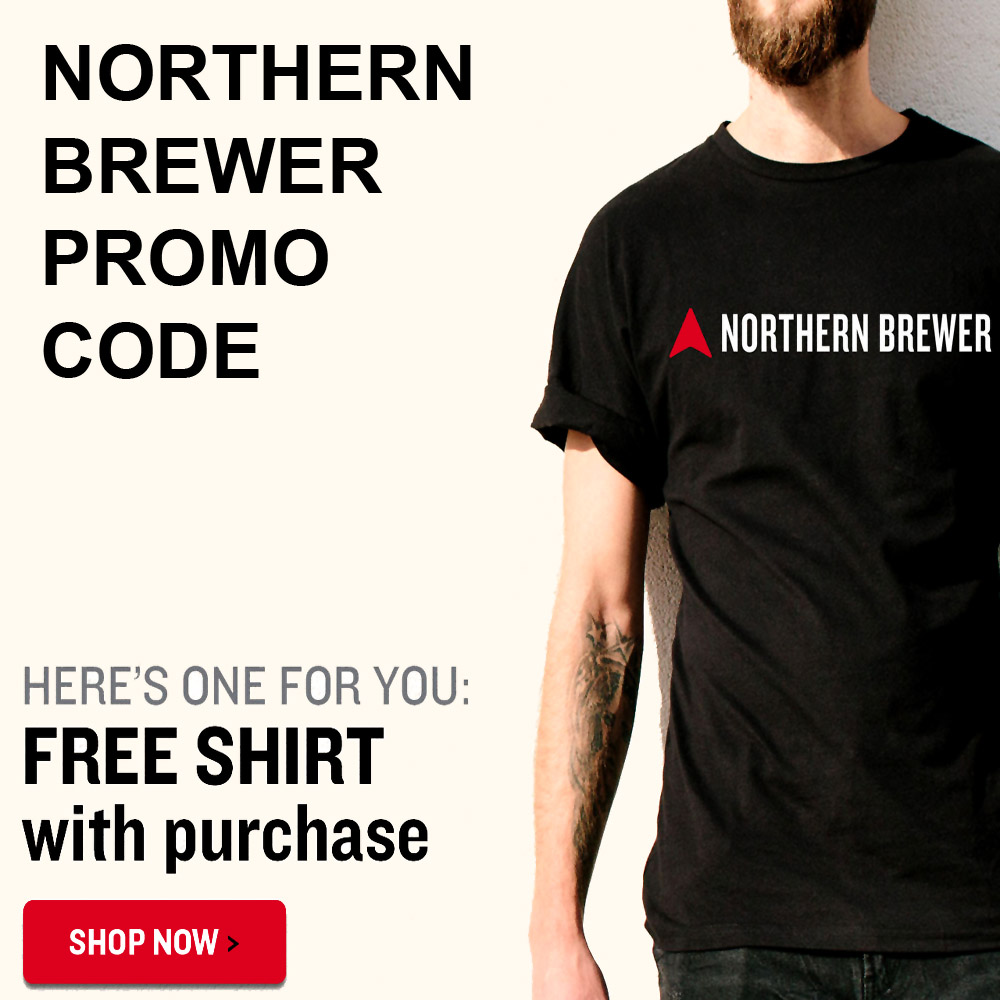 Home Wine Making Coupon Codes for Get a Free T-shirt with any NorthernBrewer.com Purchase Coupon Code