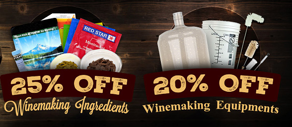 Home Wine Making Promo Codes for 20% to 25% Off All Wine Making Equipment and Supplies! Coupon Code