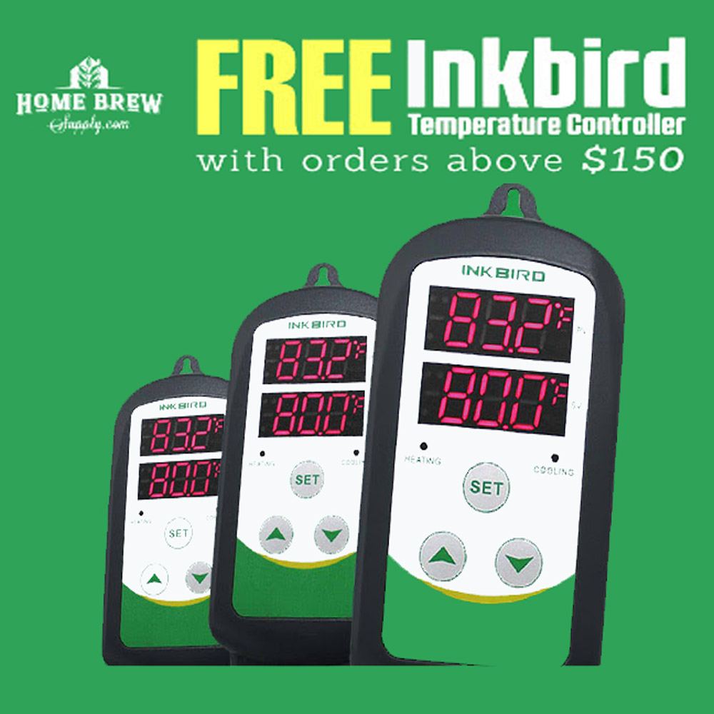Home Wine Making Coupon Codes for Get a Free Inkbird Digital Temperature Controller on orders $150 or more Coupon Code