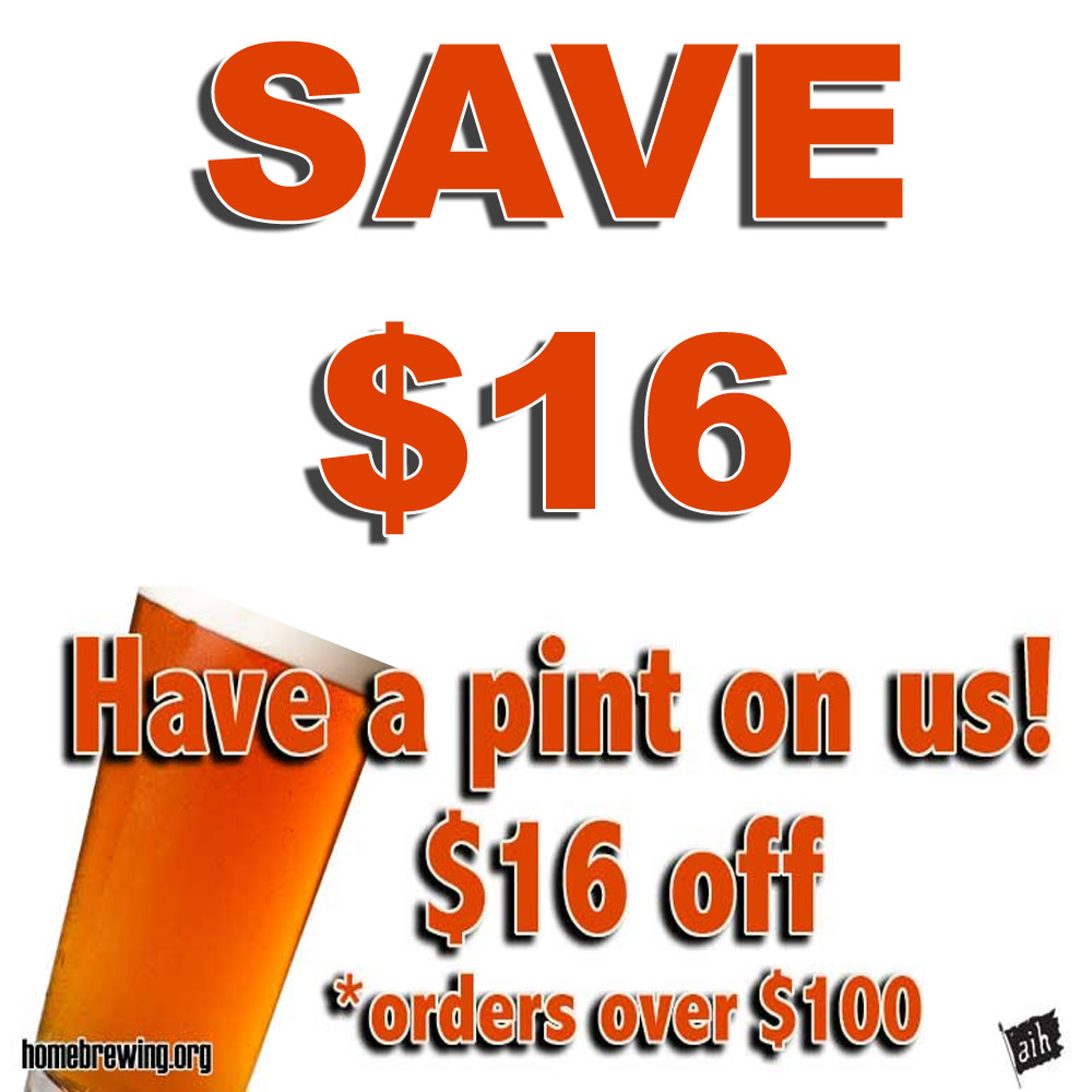 Home Wine Making Sales for Save $16 On Any Order Of $100 Or More Sale