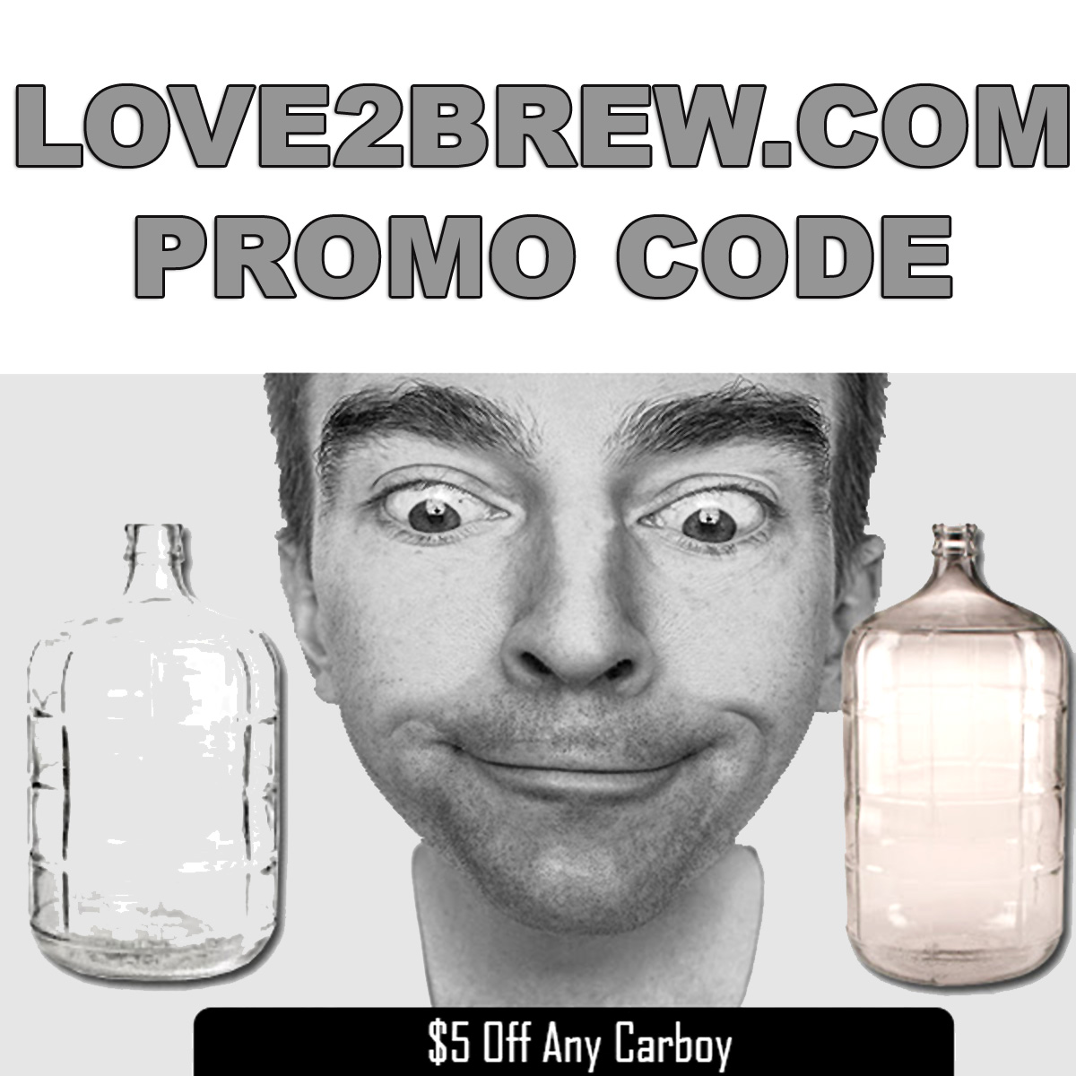 Home Wine Making Coupon Codes for Save $5 On Any Carboy at Love2Brew.com With This Love 2 Brew Promo Code Coupon Code