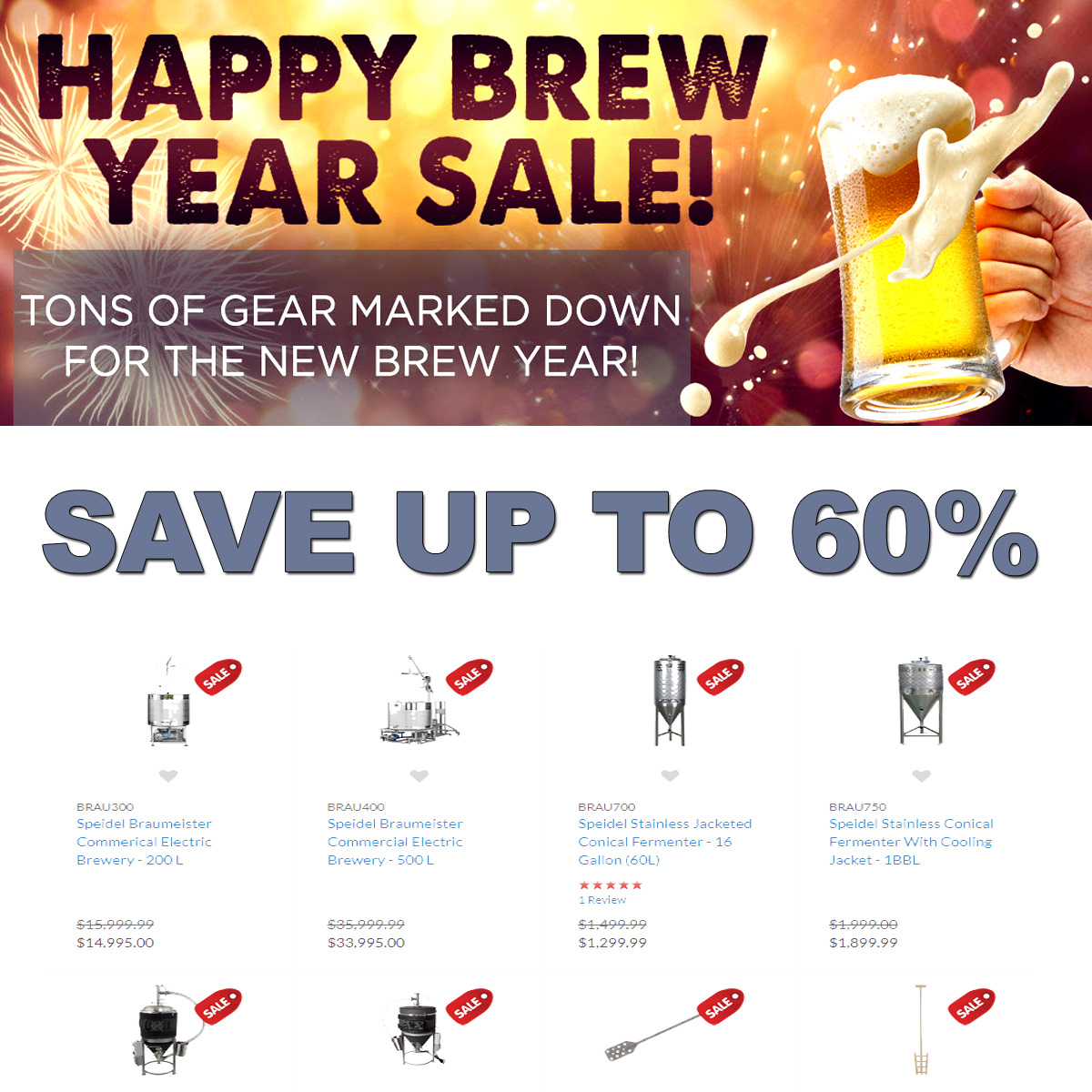 Home Wine Making Coupon Codes for Save Up To 60% On Poplular Wine Making Items During The More Beer Happy Brew Year Sale! Coupon Code