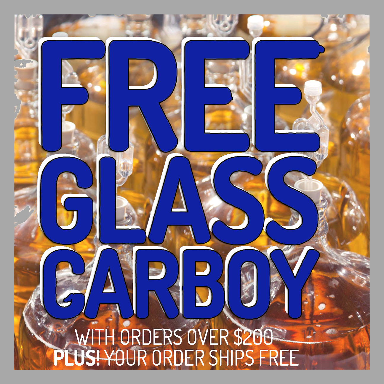 Home Wine Making Coupon Codes for Spend $200 at MidwestSupplies.com and get a Free Carboy with this Midwest Supplies Promo Code Coupon Code