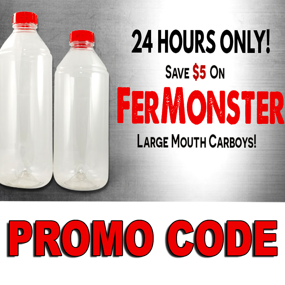 Home Wine Making Sales for Save $5 On Fermonster Large Mouth Plastic Wine Carboy Sale