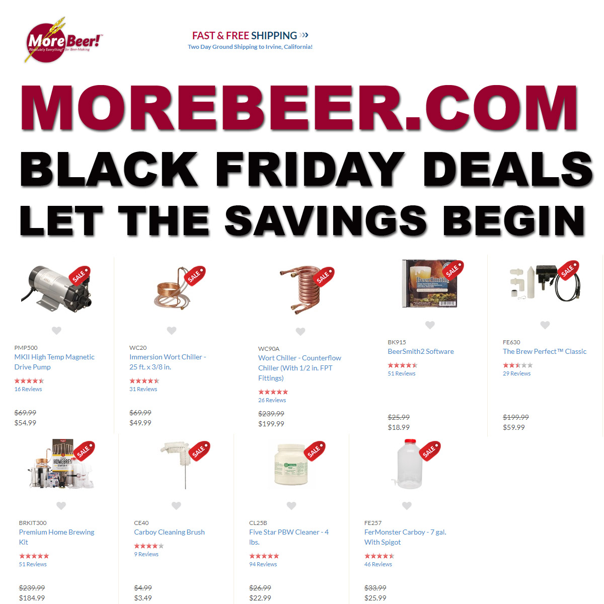 Home Wine Making Coupon Codes for Save Up To 75% On Popular Wine Making Items with this MoreBeer.com Black Friday Promo Code.  Plus get Free Shiping on orders over $59! The MoreBeer Black Friday Sale! Coupon Code