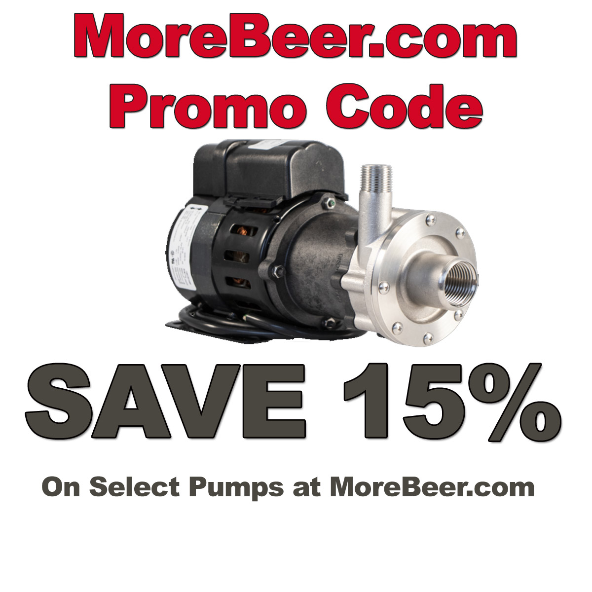 Home Wine Making Coupon Codes for Save 15% On Home Brewing Pumps with this MoreBeer.com Promo Code Coupon Code