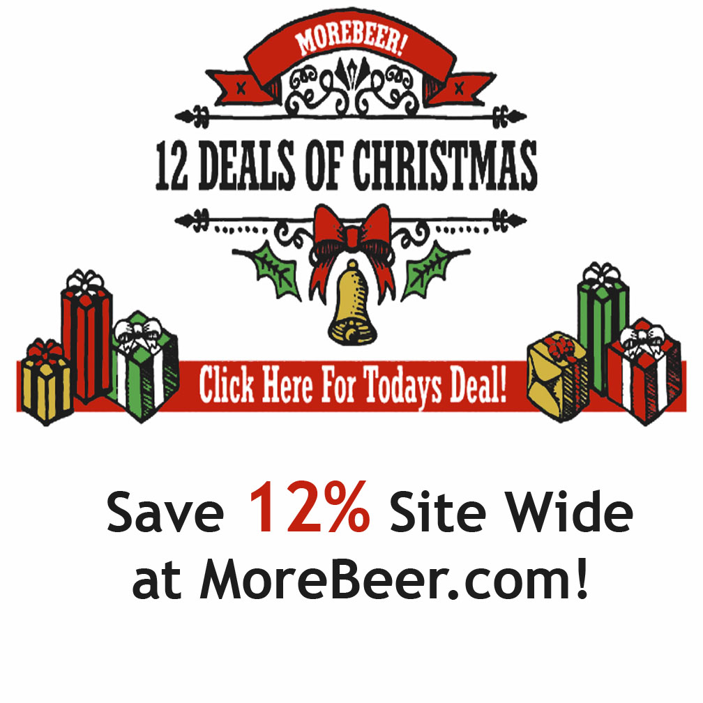 Home Wine Making Coupon Codes for Save 12% Sitewide at MoreBeer!  Last Day of the Christmas Sale Coupon Code
