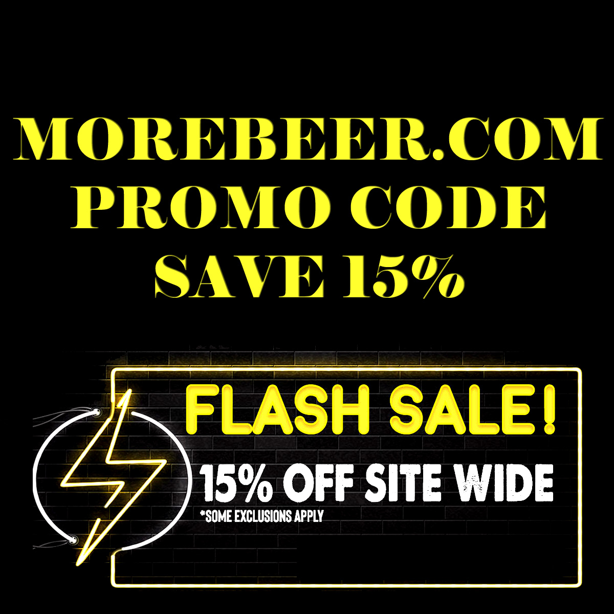 Home Wine Making Coupon Codes for Save an Extra 15% With This MoreBeer.com Promo Code During The More Beer Flash Sale Coupon Code
