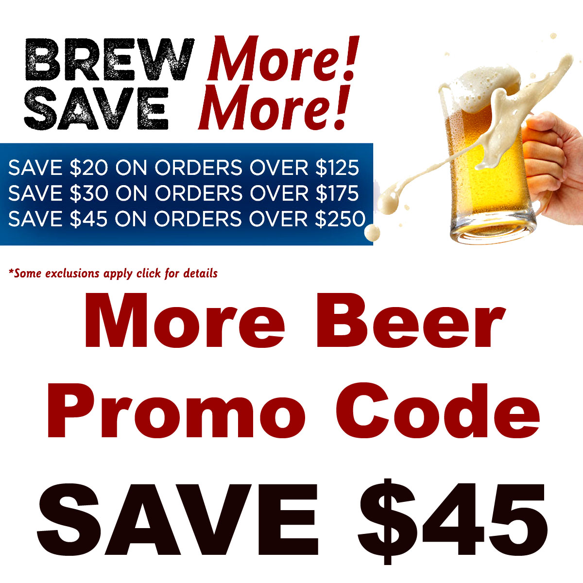 Home Wine Making Coupon Codes for Save as much as $45 on your home wine making purchase with this MoreBeer.com promo code Coupon Code