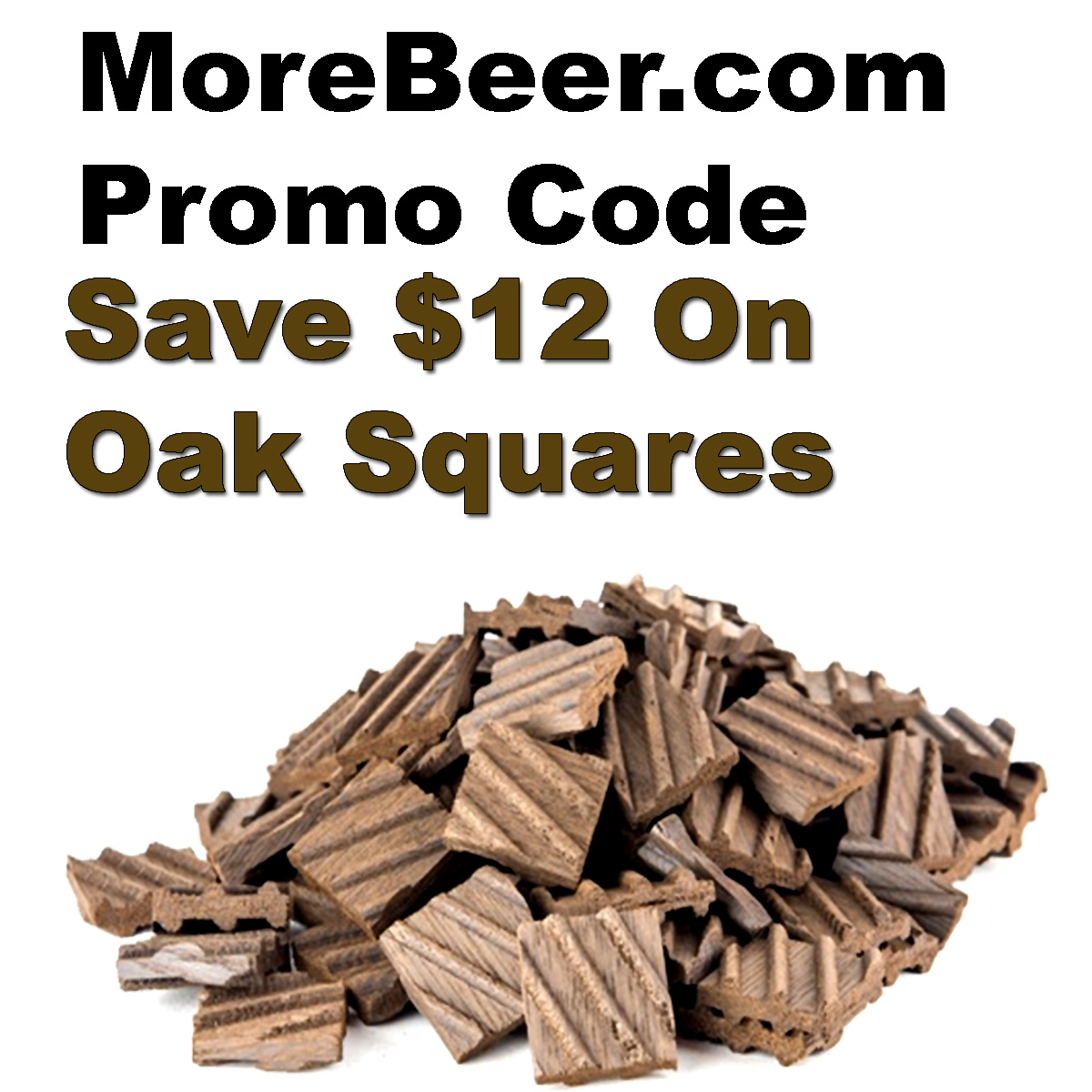 Home Wine Making Coupon Codes for Save $12 On BeerStix Oak Squares With the MoreBeer.com promo code of the day. Coupon Code