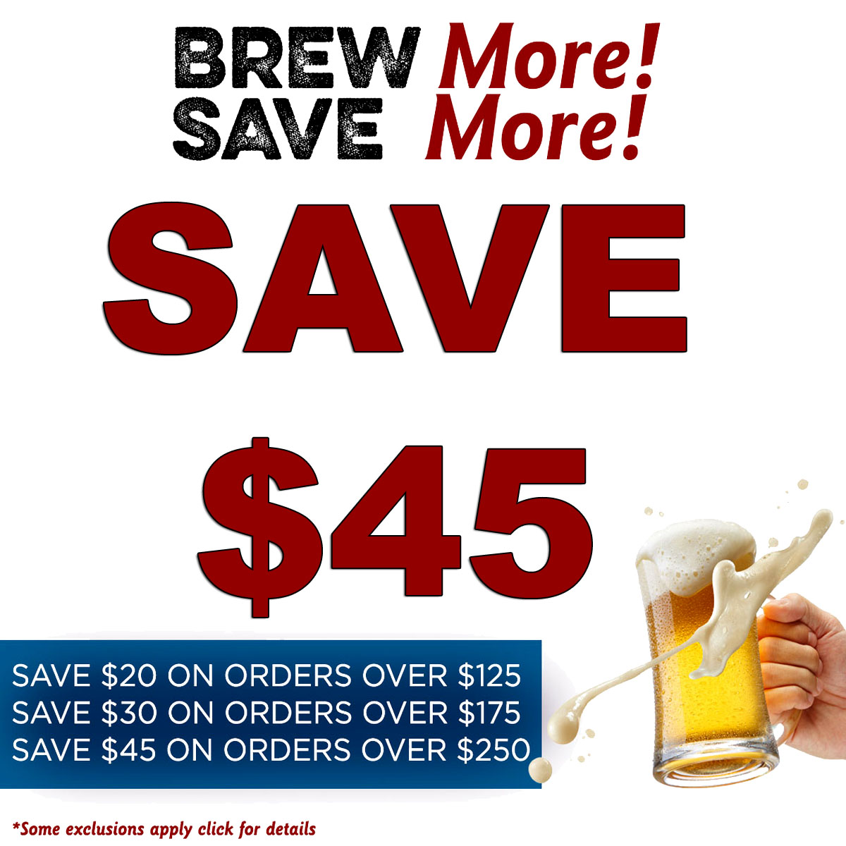 Home Wine Making Coupon Codes for Save Up To $45 On Your More Beer Purchase With This MoreBeer.com Promo Code Coupon Code