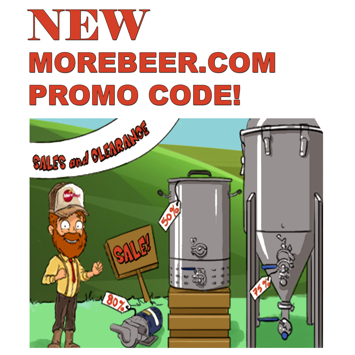 Home Wine Making Coupon Codes for Save Big During the MoreBeer.com Home Brewing Sale Going On Now at MoreBeer.com Coupon Code