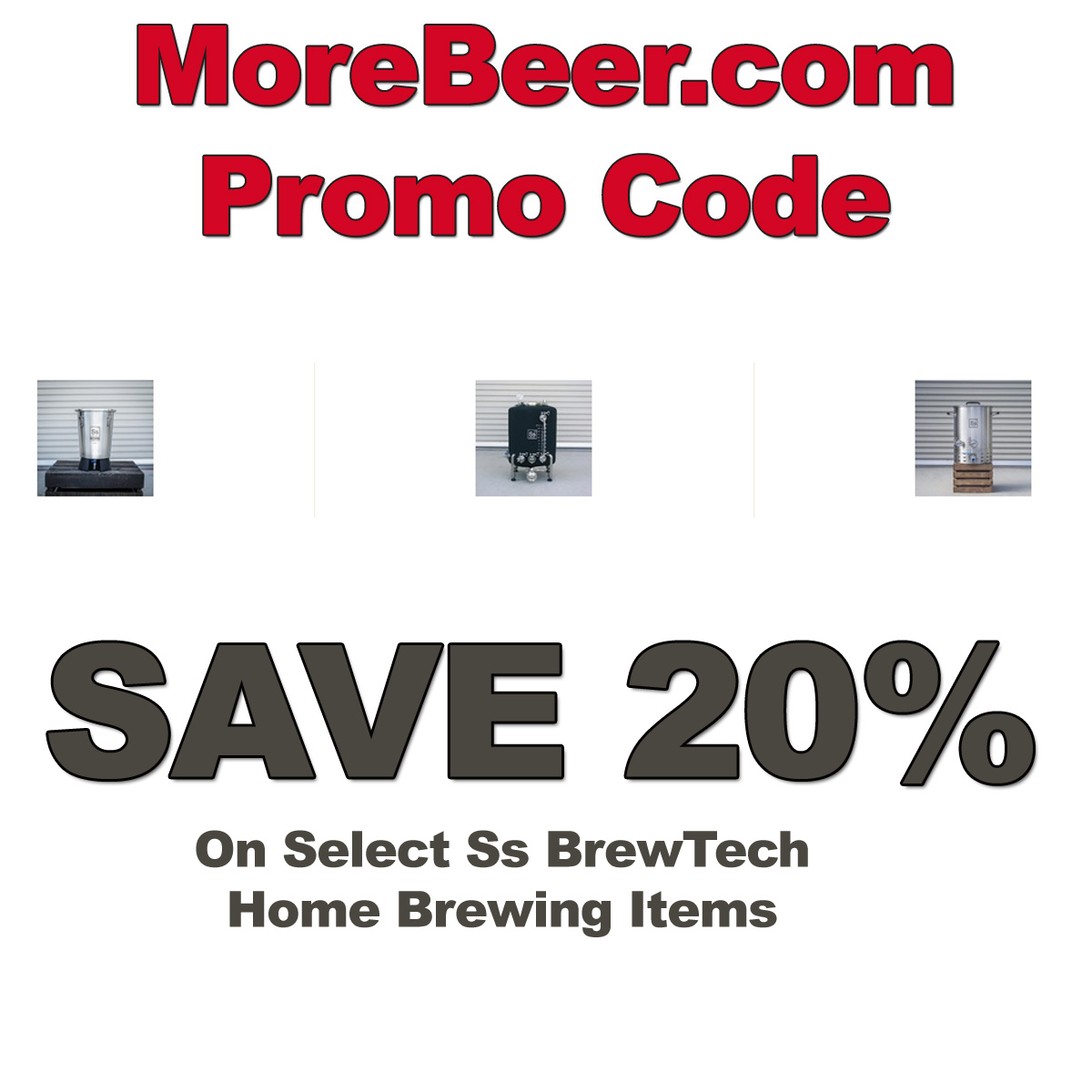 Home Wine Making Coupon Codes for Save 20% On Select SS BrewTech Home Brewing Items With This MoreBeer.com Promo Code Coupon Code
