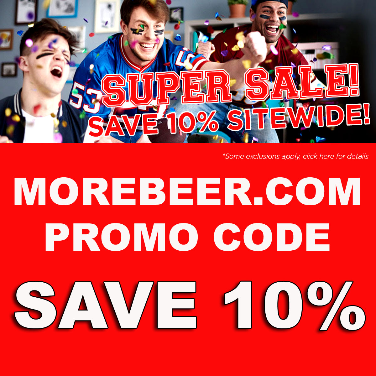 Home Wine Making Coupon Codes for Use this MoreBeer.com coupon code and save 10% sitewide plus get Free Shipping on orders over $59 Coupon Code