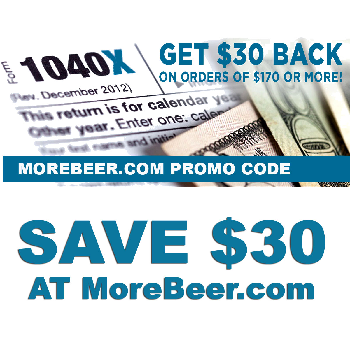 Home Wine Making Coupon Codes for Get $30 Back On Orders Of $170 Or More at MoreBeer.com when you use this More Beer Promo Code Coupon Code