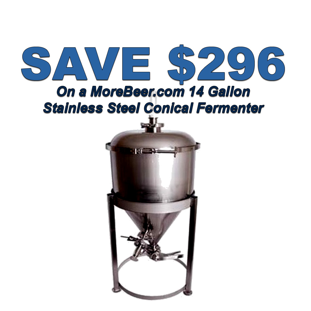 Home Wine Making Coupon Codes for Save $296 On A MoreBeer Stainless Steel Conical Fermenter Coupon Code