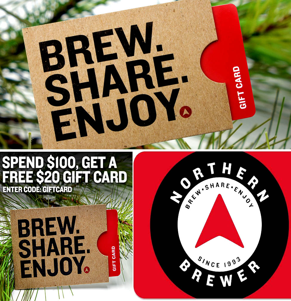 Home Wine Making Coupon Codes for Spend $100 And Get A Free Holiday Giftcard At NorthernBrewer.com Coupon Code Coupon Code