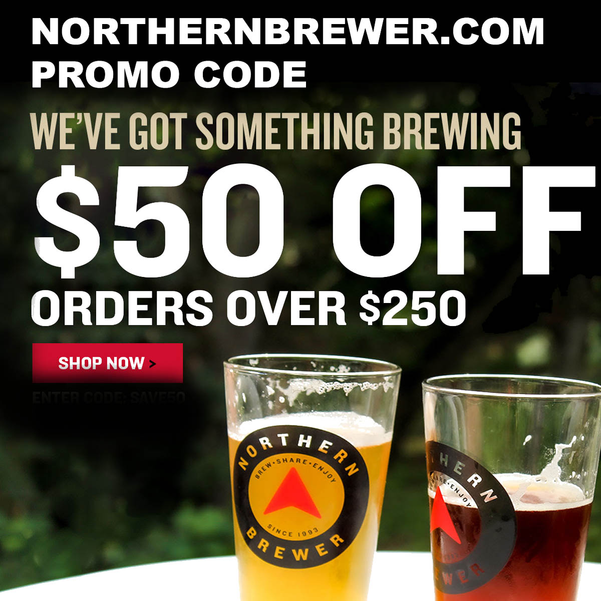 Home Wine Making Coupon Codes for Save $50 Off Orders of $250 Or More With This NorthernBrewer.com Promo Code Coupon Code