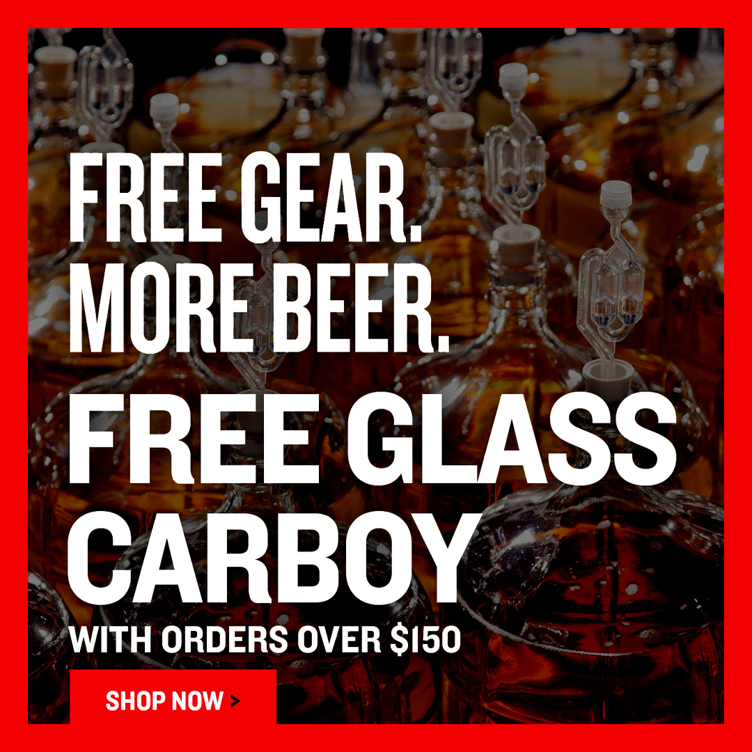 Home Wine Making Coupon Codes for Spend $150 At NorthernBrewer.com and Get A Free Carboy Coupon Code
