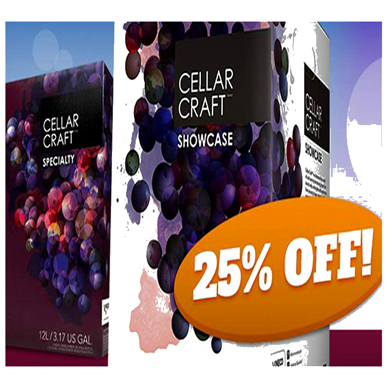 Home Wine Making Coupon Codes for 25% Off Cellar Craft Home Wine Making Kits! Coupon Code