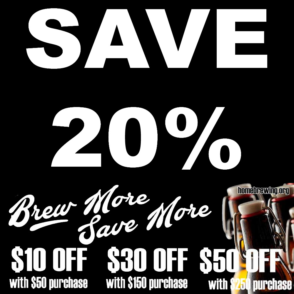 Home Wine Making Sales for Save Up To 20% On Your Homebrewing Purchase Sale