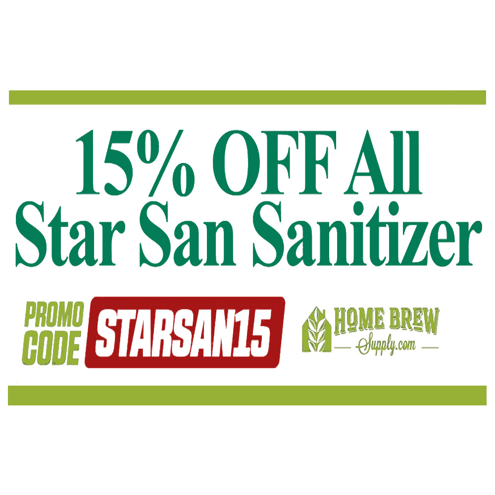 Home Wine Making Coupon Codes for Save 15% On Star San Homebrew Sanitization Products Coupon Code