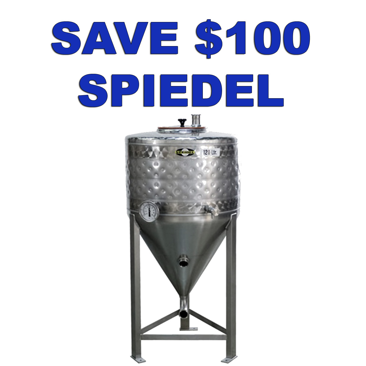 Home Wine Making Coupon Codes for Save $100 On A Speidel Stainless Steel Conical Fermenter with Cooling Jacket! Coupon Code