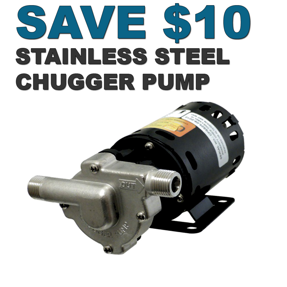 Home Wine Making Coupon Codes for Save $10 On A Stainless Steel Chugger Pump Coupon Code