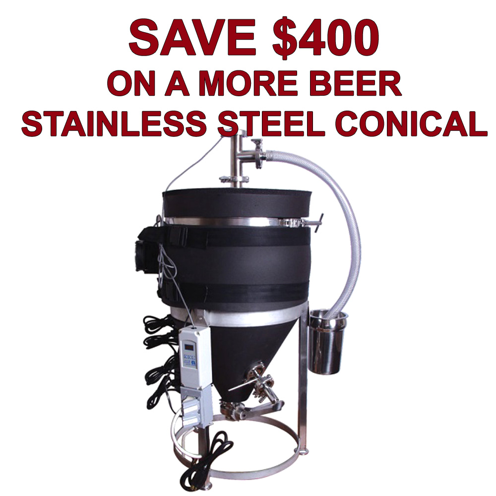 Home Wine Making Coupon Codes for Save $400 On A More wINE Ultimate Stainless Steel Conical Fermenter Coupon Code