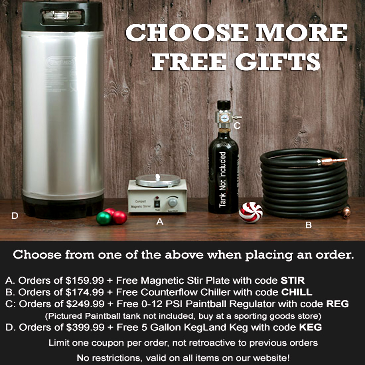 Home Wine Making Coupon Codes for Choose a free gift at Williams Brewing with this WilliamsBrewing.com Coupon Code Coupon Code