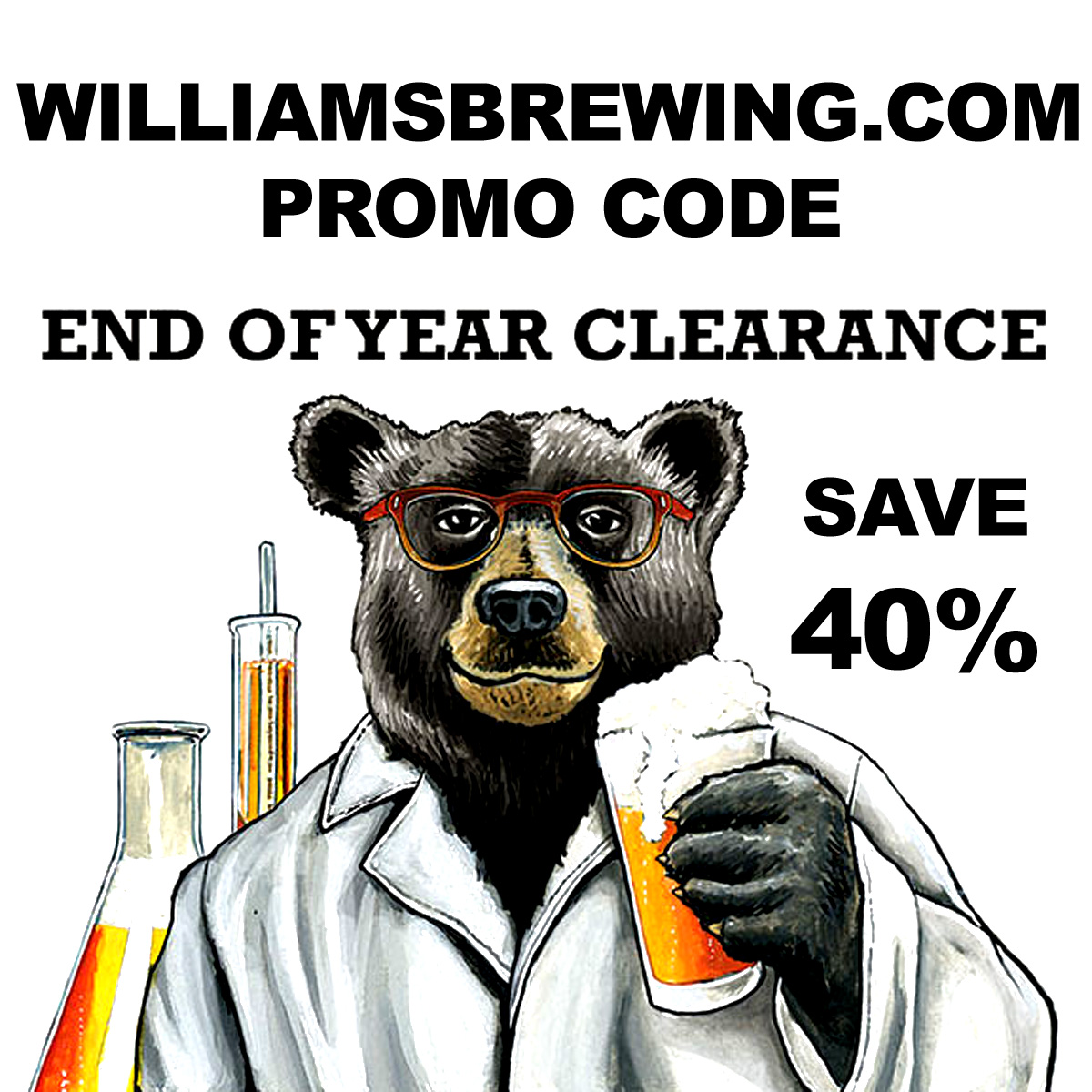 Home Wine Making Coupon Codes for Save 40% On Popular Wine Making Items At The Williams Brewing Year End Clearance Sale Coupon Code