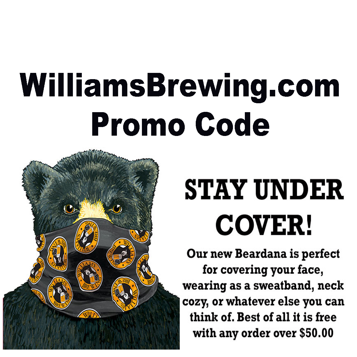 Home Wine Making Coupon Codes for Spend $50 at Williams Brewing and get a FREE BEARDADA with this WilliamsBrewing.com Coupon Code for August 2020 Coupon Code