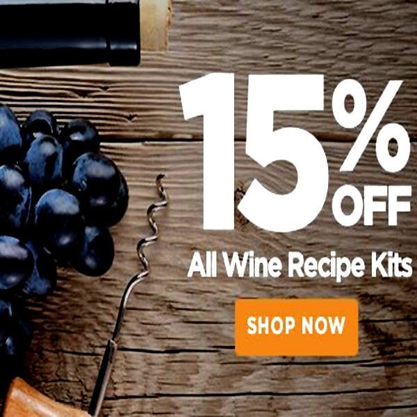 Home Wine Making Promo Codes for 15% OFF WINE RECIPE KITS! Coupon Code