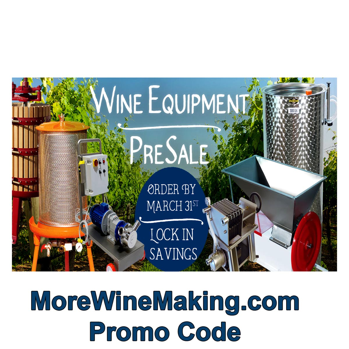 Save BIG on Winemaking Equipment with this More Wine Making Sale Coupon Code