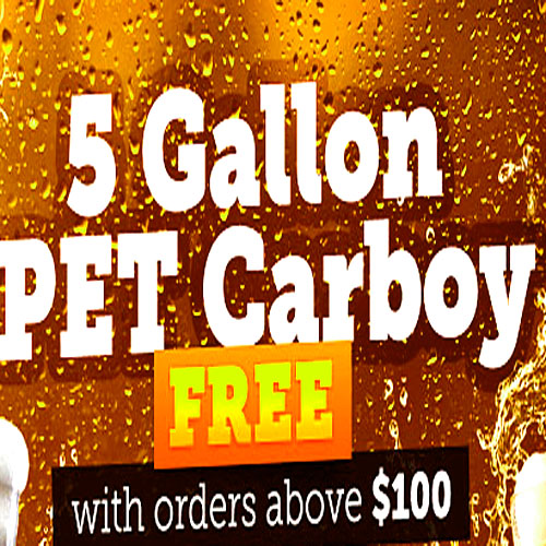 Home Wine Making Promo Codes for Free Carboy With Every $100+ Order Coupon Code