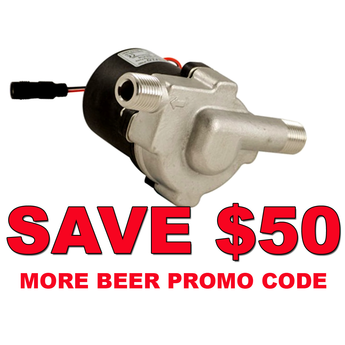 Home Wine Making Coupon Codes for Save $50 On A New Stainless Steel Compact Transfer Pump and Get Free Shipping MoreBeer Promo Code Coupon Code